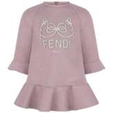Fendi FendiBaby Girls Light Pink Neoprene Dress
