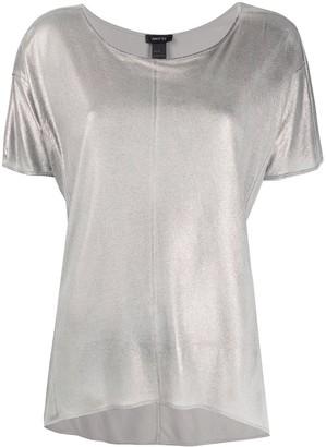 Avant Toi metallic lame T-shirt