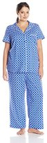 Nautica Sleepwear Women's Plus-Size Lattice-Print Set