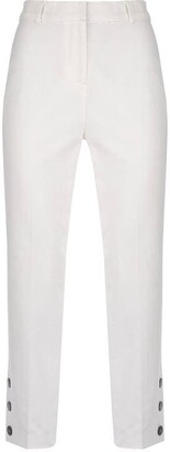 Mint Velvet Ivory Button Hem Capri