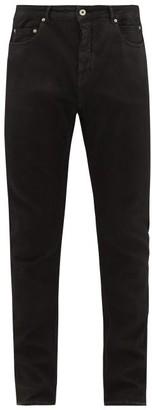 Rick Owens Detroit Cut Stretch Cotton-blend Jeans - Black