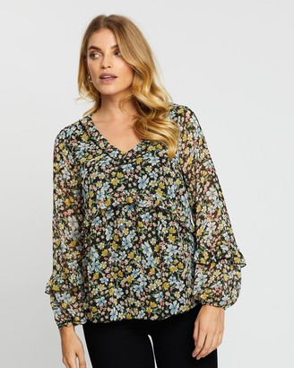 Dorothy Perkins Ditsy Ruffle Blouse Top