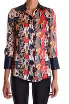 Elisabetta Franchi Women's Multicolor Silk Shirt.