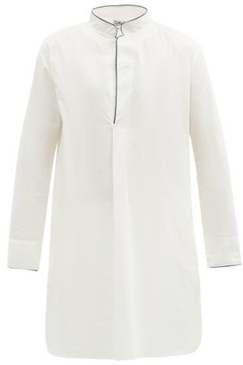 P. Le Moult - Piped Cotton Nightshirt - White