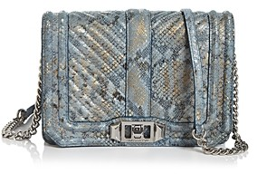 Rebecca Minkoff Chevron Quilted Mini Suede Crossbody Bag