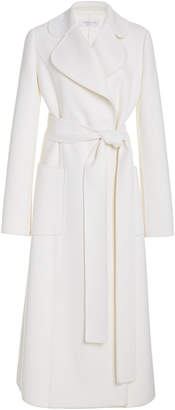 Michael Kors Collection Wool-Blend Wrap Trench Coat