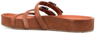 Pedro Garcia Strappy Buckled Flat Sandals