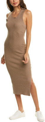 Naadam Cashmere Naadam Ribbed Silk & Cashmere-Blend Sweaterdress