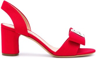 Casadei bow slingback sandals