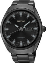 Seiko Recraft Mens Black Stainless Steel Automatic Watch SNKN43