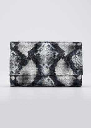 Judith Leiber Couture Fizzoni Crystal Clutch Bag with Shoulder Strap