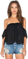 VAVA by Joy Han Laila Off Shoulder Top in Black. - size L (also in )