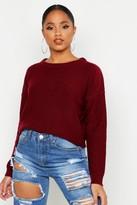 boohoo Boxy Scoop Neck Sweater