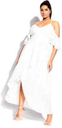 City Chic Miss Jessica Maxi Dress - ivory