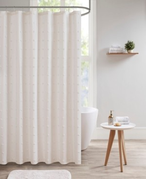 "Urban Habitat Brooklyn 70"" x 72"" Cotton Pom Pom Shower Curtain Bedding"
