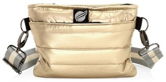 Think Royln Quilted Metallic Convertible Crossbody Bag