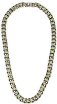 Dannijo Crystal Curb Chain Necklace