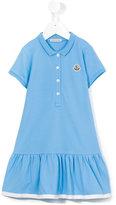 Moncler flared polo dress - kids - Cotton/Spandex/Elastane - 2 yrs