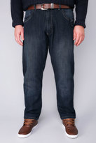 Yours Clothing D555 Blue Tapered Leg Stretch Jeans