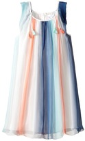 Chloe Kids - Mini Me Couture Rainbow Striped Sleeveless Dress Girl's Dress