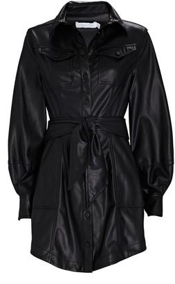 Jonathan Simkhai Eva Vegan Leather Shirt Dress