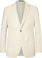 Richard James - White Slim-fit Basketweave Linen And Cotton-blend Blazer