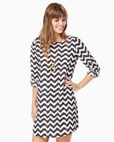 Charming charlie Wavy Chevron Shift Dress