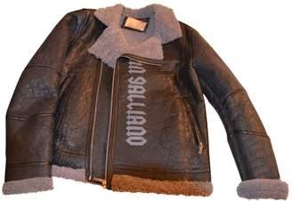 John Galliano Anthracite Shearling Jackets & Coats