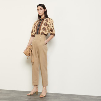 Sandro High-waisted trousers with buttons