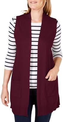 Karen Scott Open-Front Sweater Vest