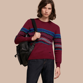 Burberry Fair Isle Intarsia Cashmere Wool Sweater
