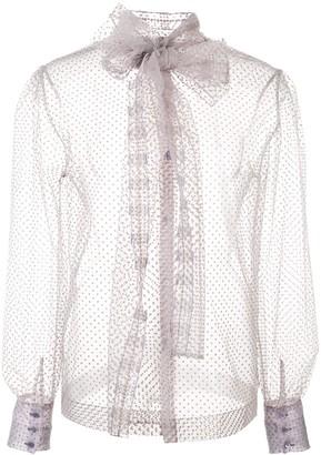 ALEXACHUNG Alexa Chung sheer tulle blouse