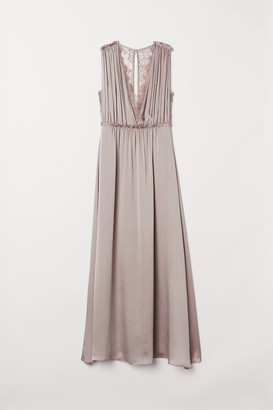 H&M Long Satin Dress - Pink