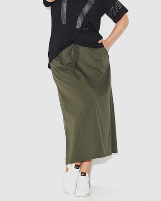 17 Sundays - Women's Green Maxi skirts - Jersey Maxi Skirt - Size One Size, 16 at The Iconic