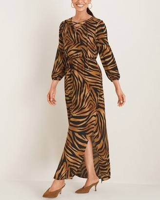 Chico's Tiger-Print Maxi Dress