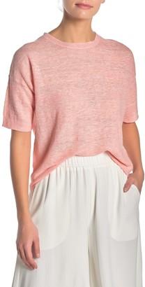 Eileen Fisher Short Sleeve Organic Linen Tunic (Petite)
