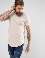 SikSilk Logo T-Shirt In Muscle Fit