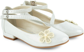 Monsoon Pearl Flower Shimmer Mini Heel
