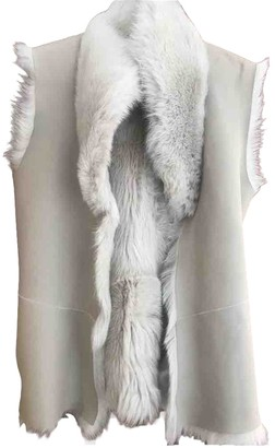 Reiss Beige Shearling Jacket for Women