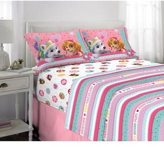 Paw Patrol Pink Kids Bed Sheet Set, Skye and Everest, Soft Microfiber