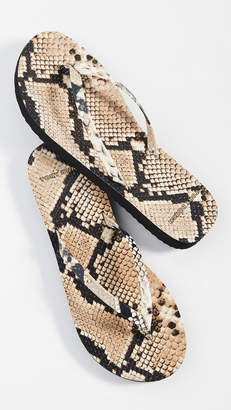 Tory Burch Printed Leather Flip Flop