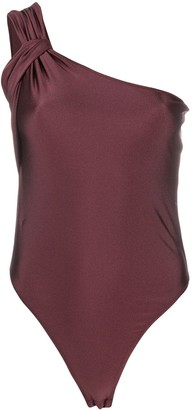 Patrizia Pepe One-Shoulder Bodysuit Top
