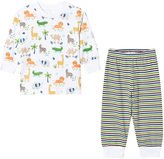 Kissy Kissy White Jungle Print and Stripe Pyjamas