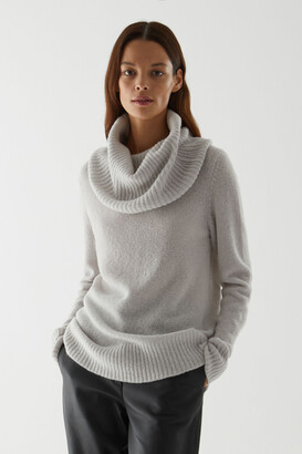 Cos Wool Hybrid Roll-Neck Jumper