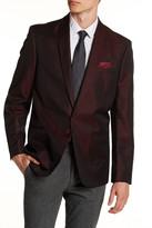 Ben Sherman Burgundy Single Button Shawl Lapel Extra Trim Sports Coat