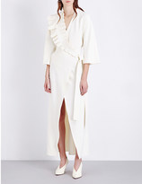 Osman Ruffle-detailed crepe dress