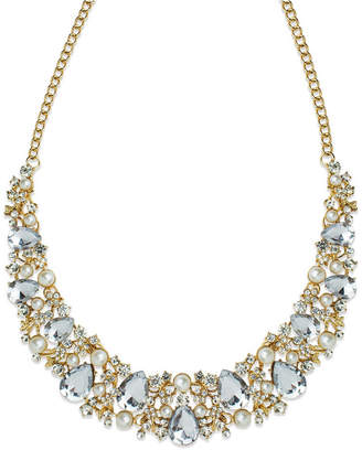 Statement Accessories Stone and Imitation Pearl Statement Necklace