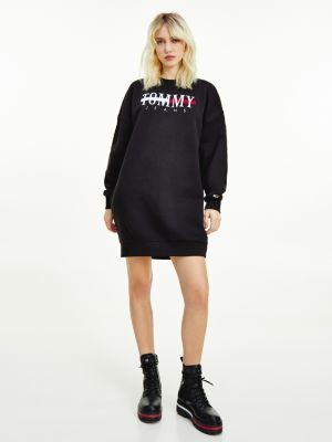 Tommy Hilfiger Relaxed Fit Logo Sweatshirt Dress