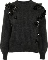 Topshop PETITE Cluster Embroidered Jumper