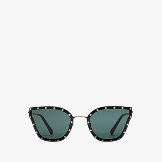 Valentino 0VA2028 (Light Gold/Green) Fashion Sunglasses